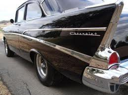 Black 57 Chevy Side Panel