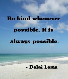 Be kind wherever possible